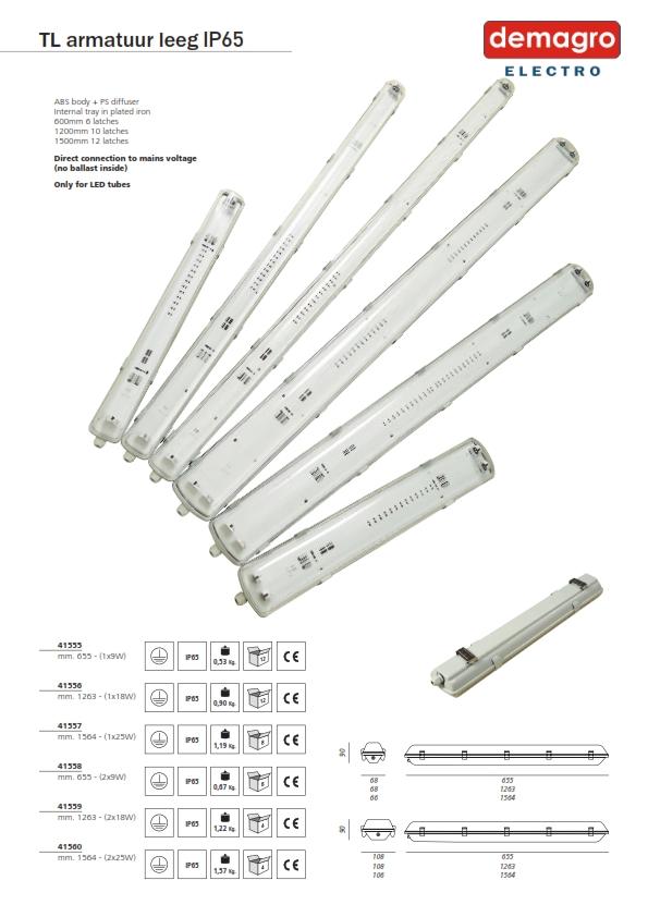 IP65 armaturen leeg voor LED tubes_001