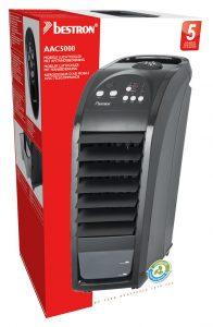 Bestron AAC5000: Mobiele 3-in-1 luchtkoeler – Koelen – Reinigen – Bevochtigen, met afstandsbediening